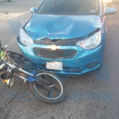 Motociclista provoca choque en Ciudad Caucel… y hasta pierde la memoria