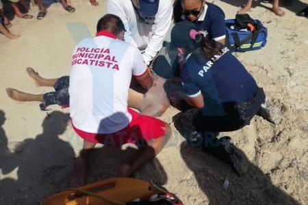 Meridano se infarta en playa de Progreso