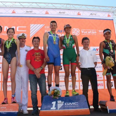 Premian a ganadores del Triatlón AsTri Mérida 2020