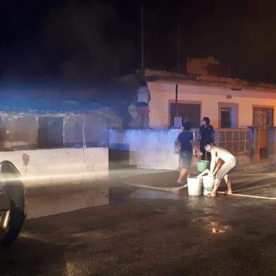 Otra noche de incendios de casas en Hunucmá: atrapan a un pirómano