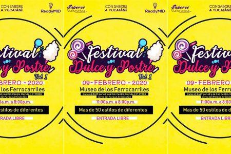 Festival Dulce y Postre, este domingo 9 de febrero en el Museo de Ferrocarriles