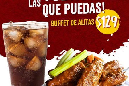 Buffet de alitas: come todas las que puedas en Angry Burgers de Gonzalo Guerrero