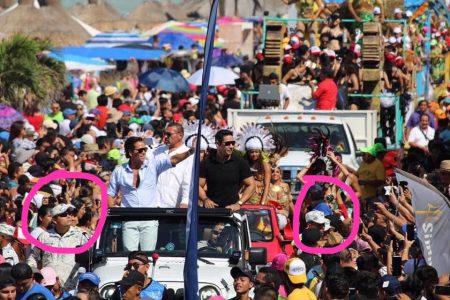 Duras críticas a la Guardia Nacional por custodiar a Palazuelos en el Carnaval de Progreso