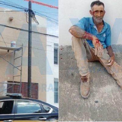 Farmacias Guadalajara sigue salada: pintor se electrocuta y cae de un andamio