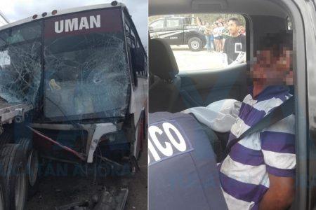 Quería matarse y propició choque con 17 lesionados en la vía Mérida-Umán