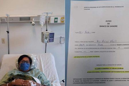 Nuevo llamado a donar sangre para joven con leucemia en el HRAEPY