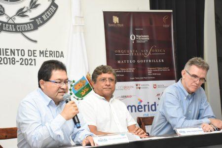 Anuncian conciertos de la Orquesta Sinfónica Italiana Matteo Goffriller en Mérida