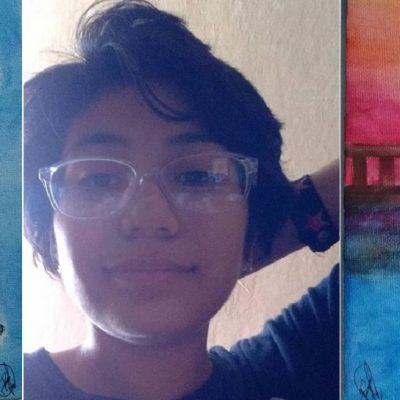 Jovencita con Síndrome de Tourette vende cuadros para ayudarse