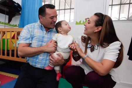 Renán Barrera entrega el remodelado Cendi San Marcos Nocoh