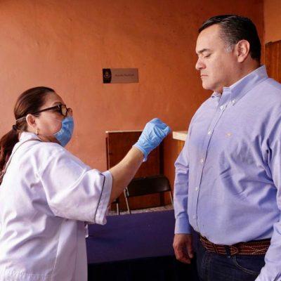 Por Covid-19, instalan filtros sanitarios en edificios del Ayuntamiento de Mérida