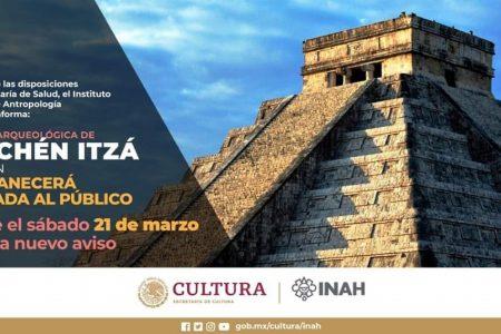 Por Covid-19, cierran la zona arqueológica de Chichén Itzá, hasta nuevo aviso