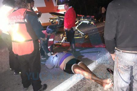Choque de motocicletas con saldo de dos lesionados, en la  carretera de los Dzilames