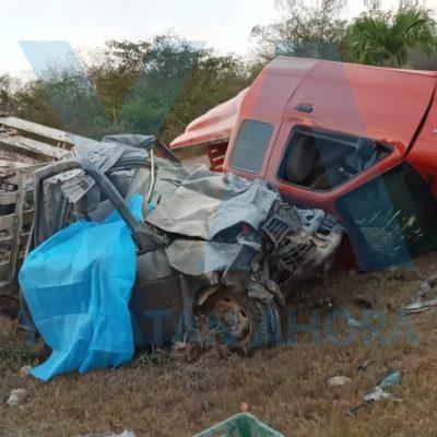 Trágico accidente en el sur de Yucatán: dos muertos y dos heridos graves