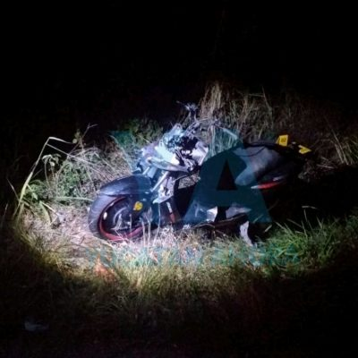 Fallece en el hospital motociclista que derrapó alcoholizado