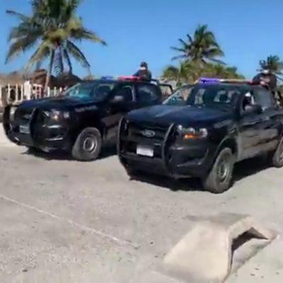 Por el Covid-19, invitan a la gente a retirarse de la playa de Progreso