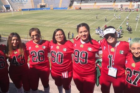 Gran victoria de yucatecas con la selección mexicana de futbol americano