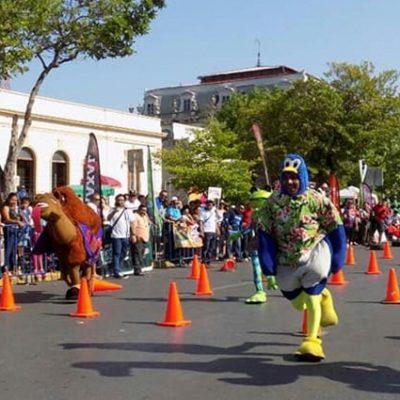 Invitan a carrera de botargas en Paseo de Montejo