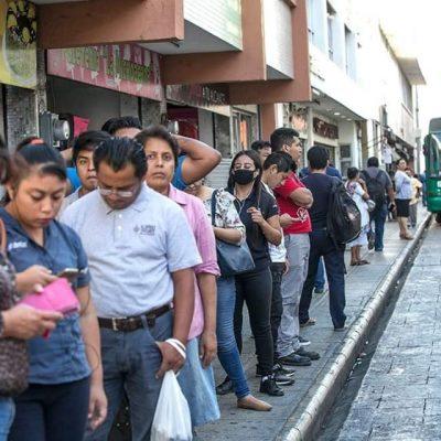 Para tener sana distancia, reubican paraderos de autobuses en el centro de Mérida
