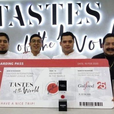 Con marquesitas y chocolate Abuelita, yucatecos ganan liga culinaria en Dubái
