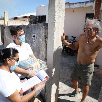 Gobierno de Yucatán reparte casa por casa despensas a grupos vulnerables