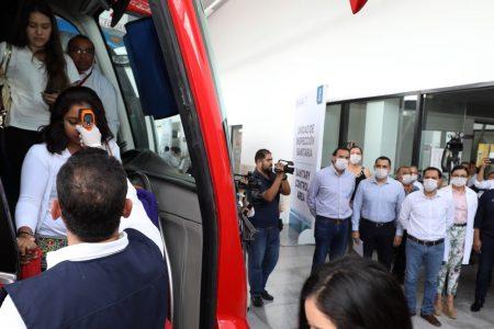 Supervisa Mauricio Vila el filtro sanitario en la terminal CAME ADO