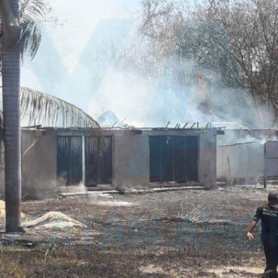 Por quemar basura, quema también su casa