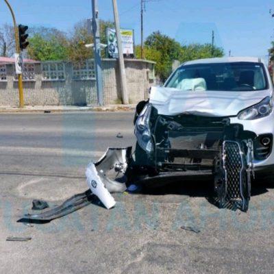 Trágico accidente en crucero semaforizado en la zona de Chuburná-Chenkú