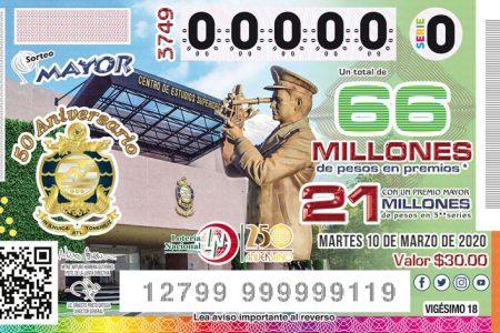 Cae en Mérida otro premio mayor de la Lotería Nacional