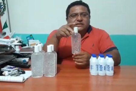 En medio del Covid-19, alcalde condiciona venta de gel antibacterial y alcohol