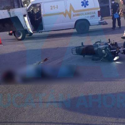 Fatal maniobra: motociclista invade carril de un camión en el oriente de Yucatán