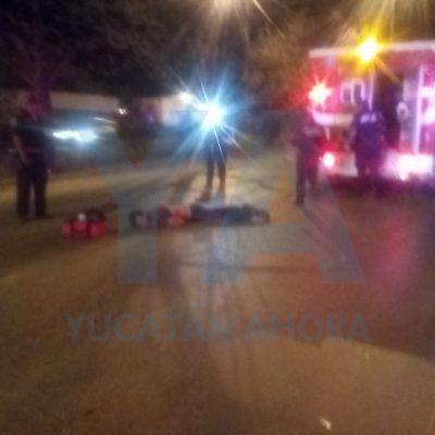 Terrible accidente en la vía Mérida-Umán: auto arrastra 400 metros a un peatón