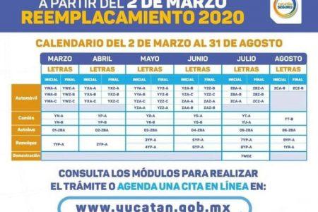 Inicia el reemplacamiento 2020 en Yucatán: puedes hacerlo en módulos o en línea