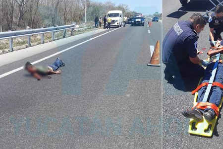 Cae de un remolque y lo abandonan herido en medio de la carretera