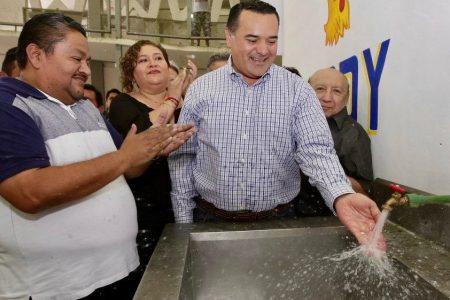 Ya tienen servicio de agua potable los mercados Lucas de Gálvez y San Benito