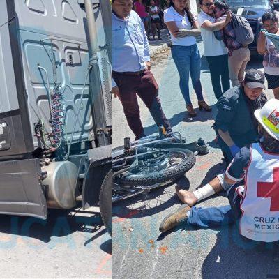 Fallece motociclista atropellado por un tráiler