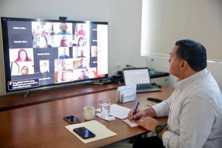 Reunión virtual de alcaldes de América y España: intercambian visiones sobre el Covid-19