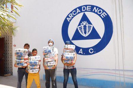 Grupos vulnerables de Mérida reciben apoyo alimentario del Ayuntamiento