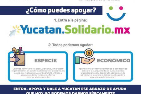 Yucatán Solidario: gobierno, sociedad y empresarios unidos contra crisis del Covid-19