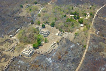 Incendio ya amenazó a Kabah, Sayil, Labná y Mayapán, sin daños al patrimonio