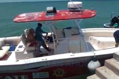 Rescatan a pescador que naufragó entre Chicxulub y Telchac Puerto