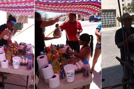 Solidaridad vecinal en el fraccionamiento San Marcos Nocoh