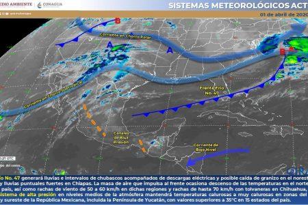 Hoy 40 grados; mañana amanecer con frente frío en Yucatán