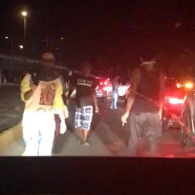 Quieren a meridanos fuera de Chicxulub Puerto: esta noche no los dejaban pasar
