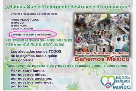 Pide Conagua ignorar fake sobre lavado masivo de calles para frenar el Covid-19