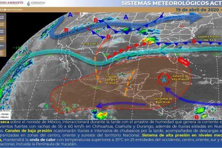 Conagua pronostica un domingo con 43 grados en Yucatán