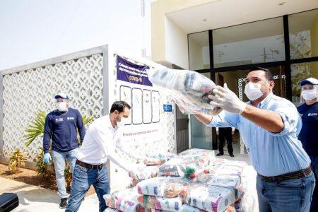 Entregan en comisarías y colonias de Mérida 80 mil paquetes de ayuda alimentaria