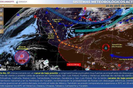 Ayer 44 grados en Yucatán; hoy se esperan lluvias por un canal de baja presión