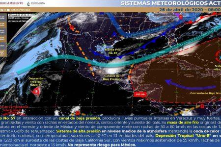 Pronostica Conagua que este domingo continuarán las lluvias en Yucatán