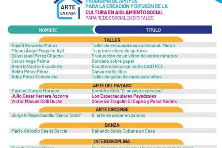 """""""Arte en Casa"""" presenta su segunda semana de proyectos artísticos seleccionados"""