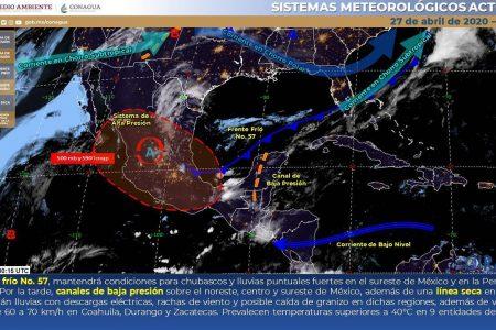 Pronostican un lunes de mucho calor y chubascos en el oriente de Yucatán